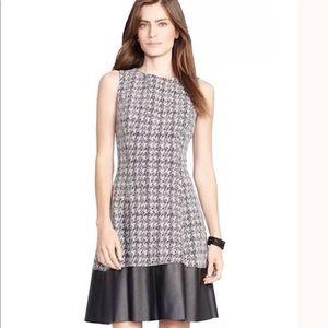 Lauren Ralph Lauren Tweed & faux leather dress
